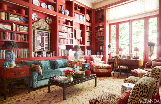 Veranda Red Room Library
